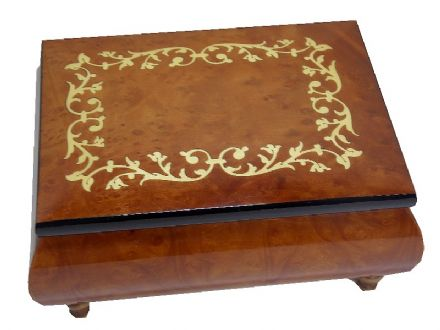Elm Scroll Musical Jewellery Box MAD415TLELL